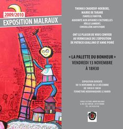 Carton d'invitation ville de Tarare 2009 - Poiré Guallino