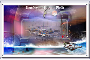 Lucky big fish