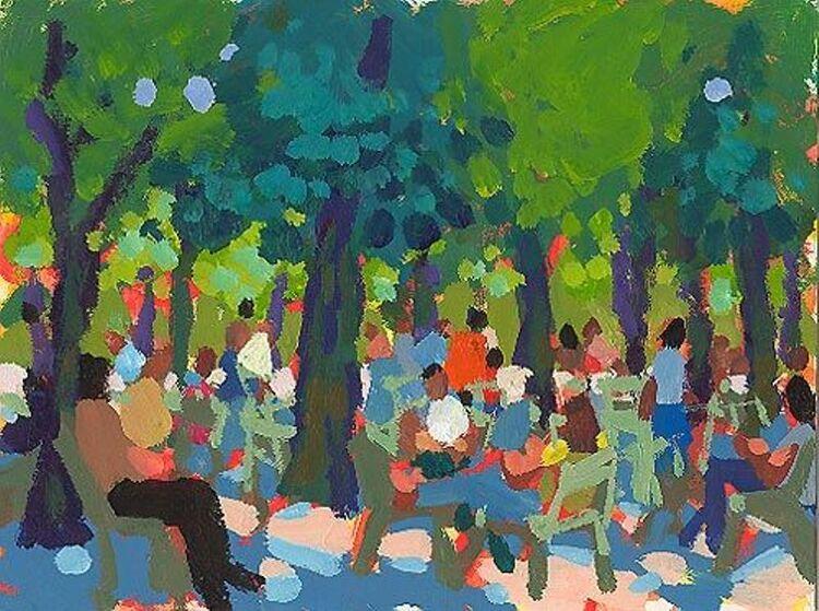 Charles Sovek. Jardin du Luxembourg.