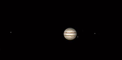 La danse lunaire autour de Jupiter