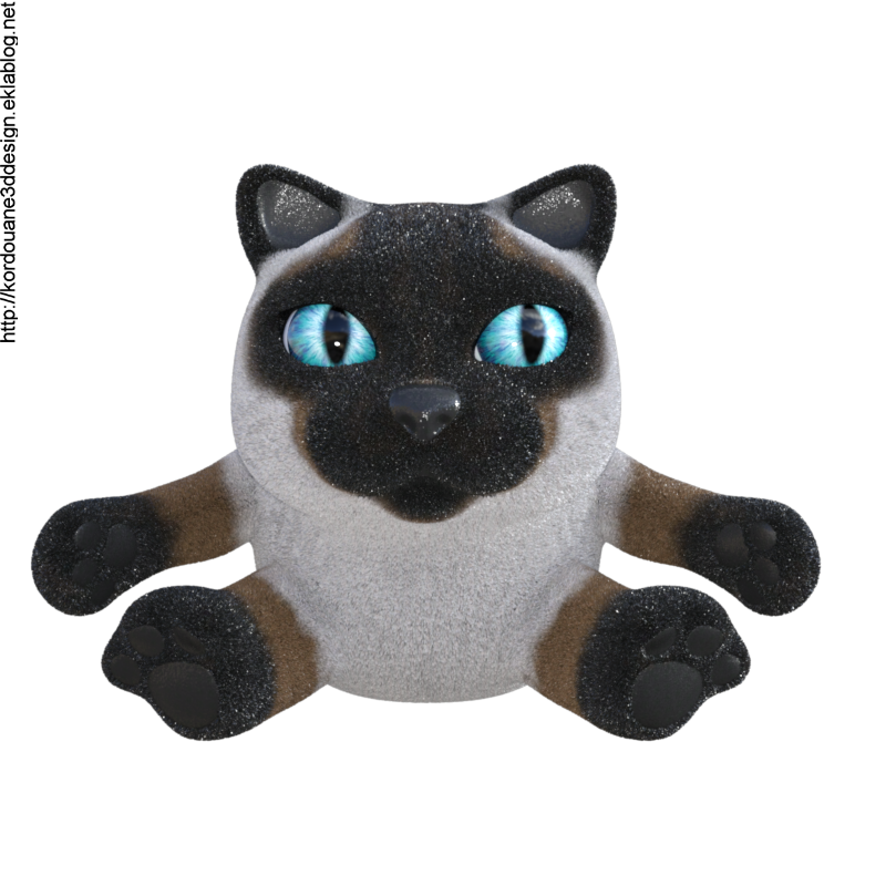 Tube de chat en peluche (render-image)
