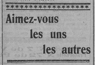 Aimez-vous les uns les autres (Le Fraterniste, 10 octobre 1913)