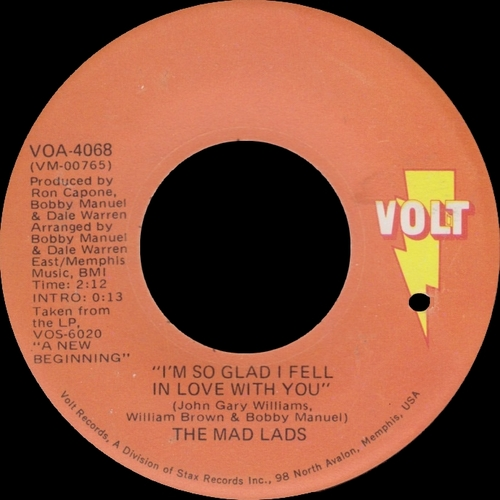"The Mad Lads "" The Mad , Mad , Mad , Mad , Mad Lads "" Volt Records VOS-6005 [ US ]"