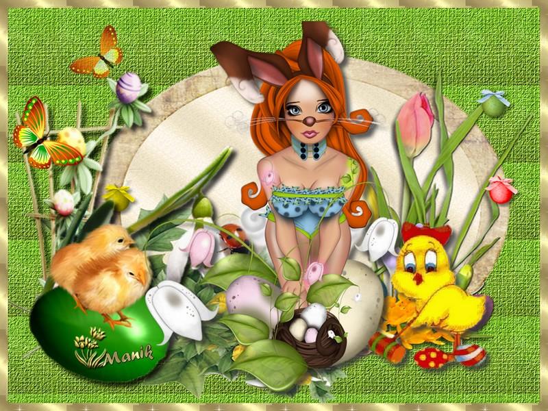 Défi pour Cerise déco ( les fruits ) & la magie de Pâques Marjolaine !
