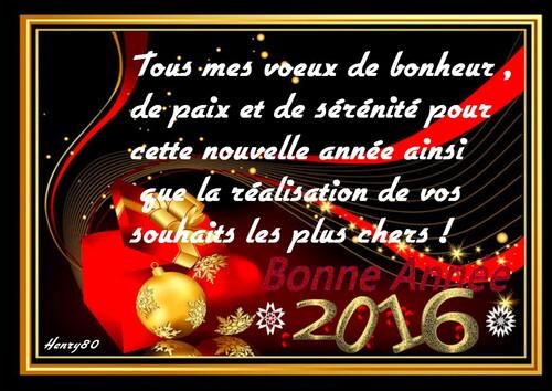 MES CALENDRIERS DE L'ANNEE 2016