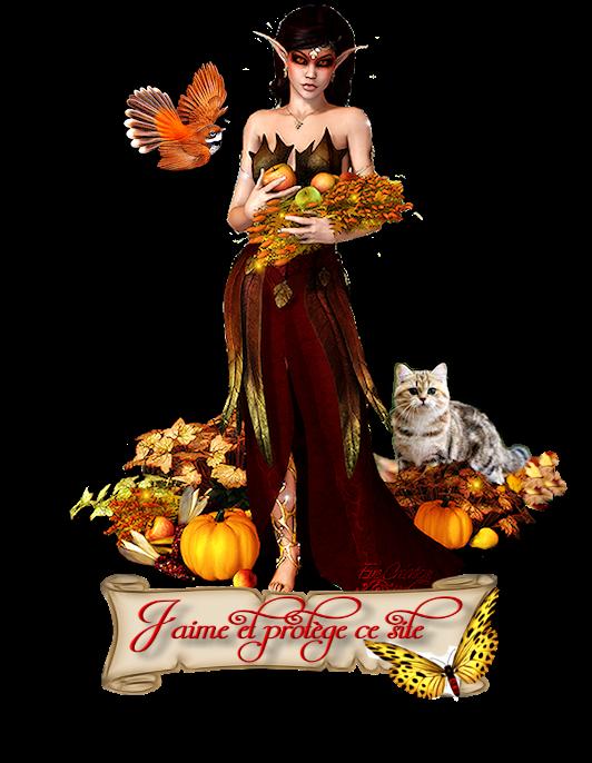 Ange protecteur d'automne