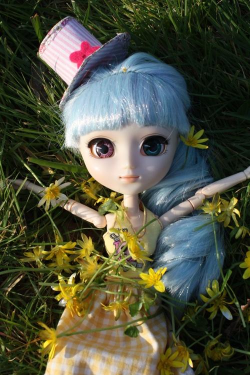 séance dans les fleurs