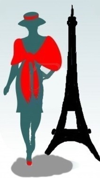 Défilé à Paris - La dame au chapeau