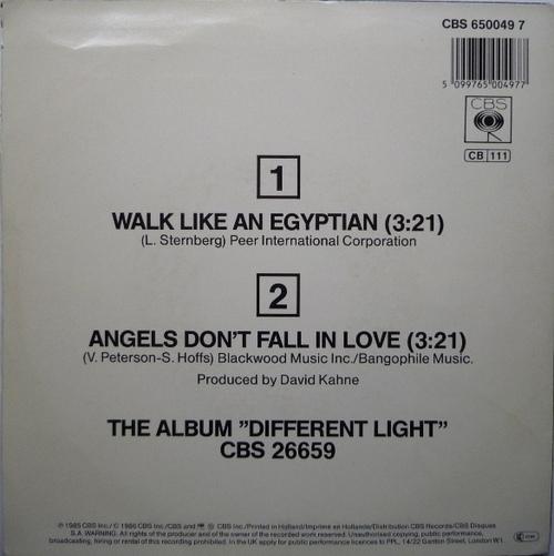 Les SINGLéS # 104: The Bangles - Walk like an Egyptian (1986)
