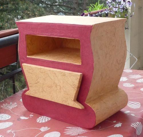 meuble carton rose jaune2