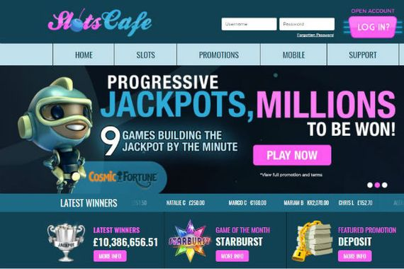 Play Slots.Cafe and have your fun dished up to you in bite sized chunks in our exciting new online casino world