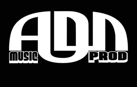 ADN Music Prod - Logo blanc sur noir