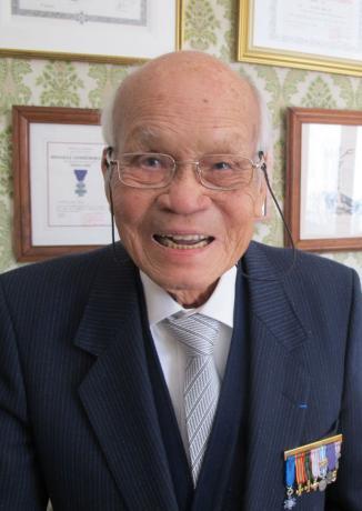 Palaiseau, jeudi. Ky Nguyen Phu, engagé dans les Forces françaises libres, est devenu ingénieur après-guerre participant à la construction des premières centrales nucléaires.