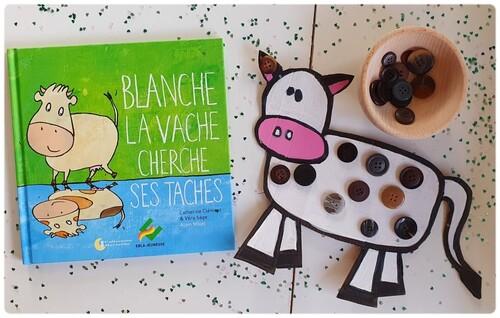 Blanche la vache cherche ses taches de Catherine Clément et Véra Sage