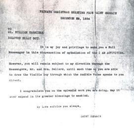 """William Cassière - Maître Ascensionné """"Frère Bill"""""""