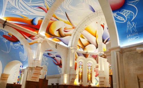 Une œuvre unique dans une église