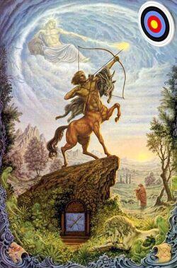 Sagittaire avec cible- d'après Johfra