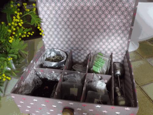 Atelier cartonnage du 14 mars 2016 : une boîte à thé