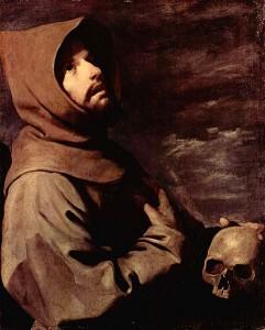 François d'Assise – Francisco de Zurbarán, 1658.