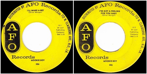 NOOKIE BOY - SINGLE AFO 306 - 1961