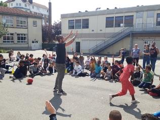 freestyle foot à l'école