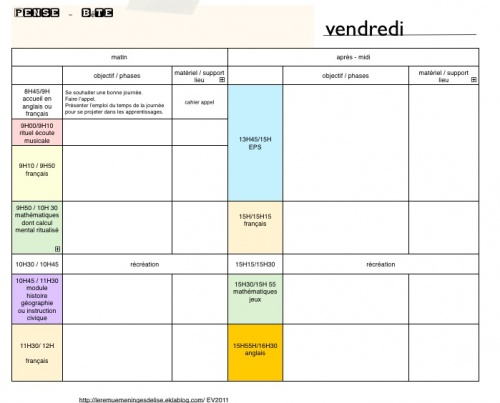 Cahier journal vierge cycle 3