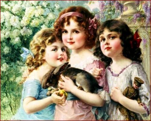 5- Trois soeurs en peinture