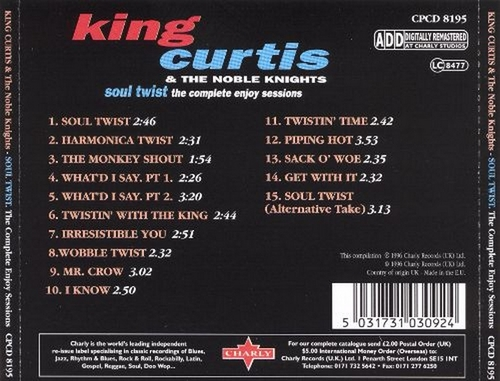 "King Curtis & The Noble Knights : Album "" Soul Twist With King Curtis "" Enjoy Records ENLP 2001 [ US ]"