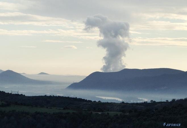 Les vapeurs de la centrale de Cruas