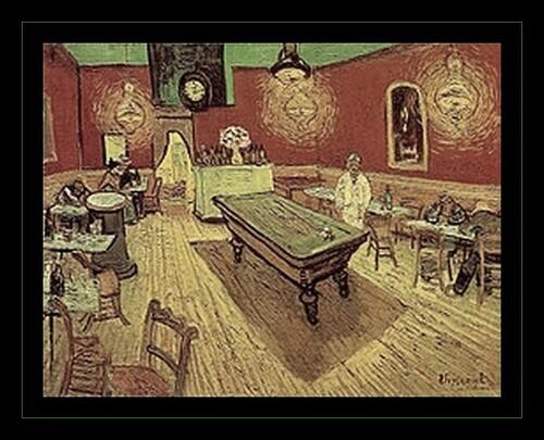 """Le """" collabo """" café de nuit Van Gogh"""