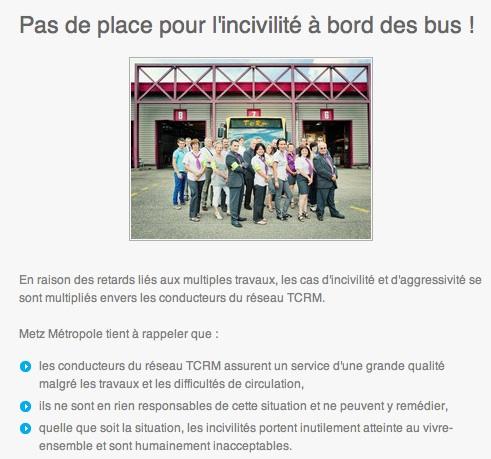 Dans le bus, pas de place pour l'incivilité