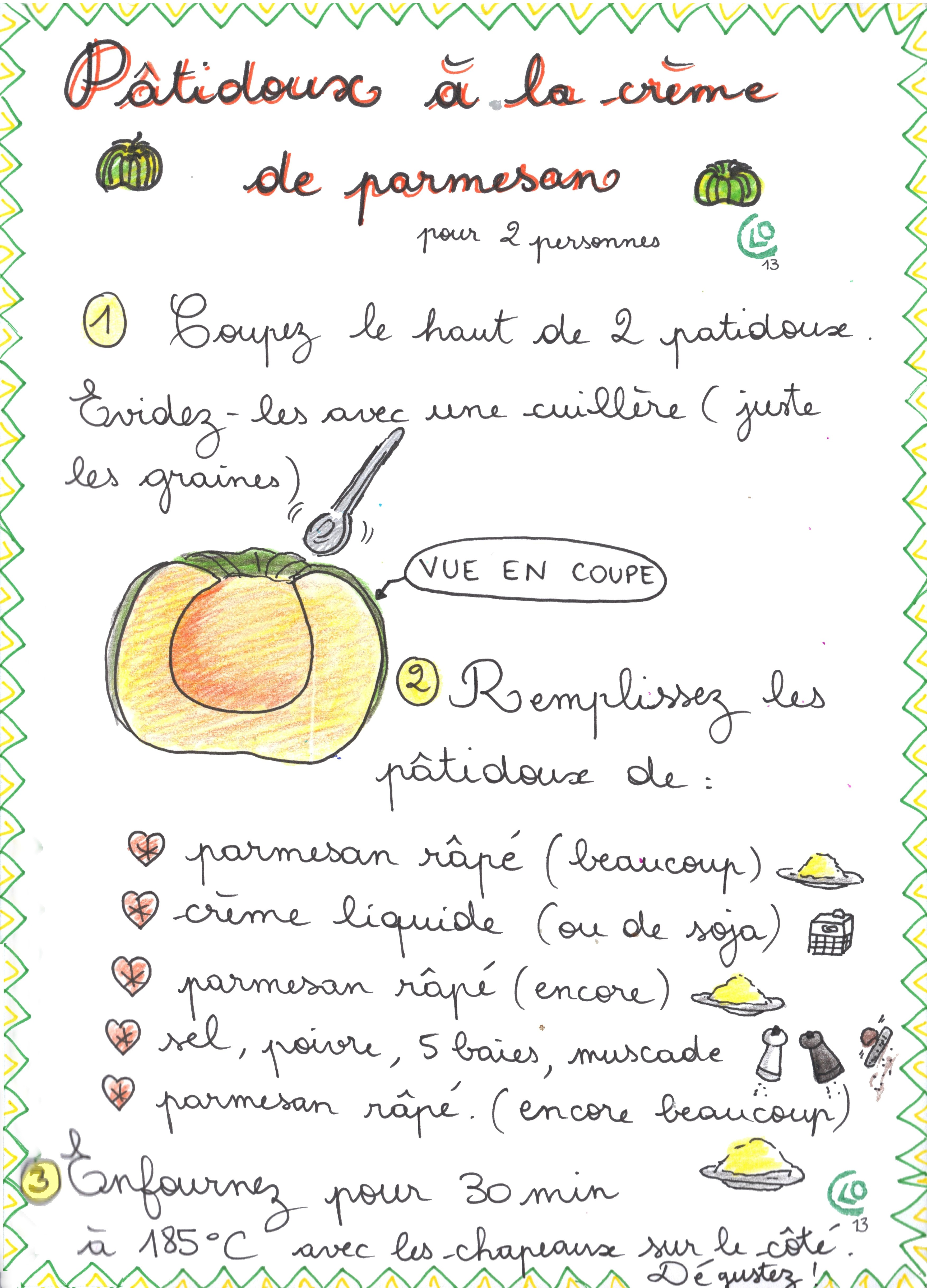 pâtidoux à la crème de parmesan