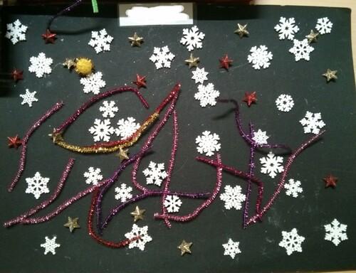 Loose parts / art éphémère thème Noël