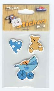 stickers bois naissance scrapbooking