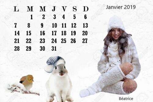 Défi Calendrier Janvier 2019