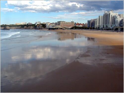 La grande plage en hiver