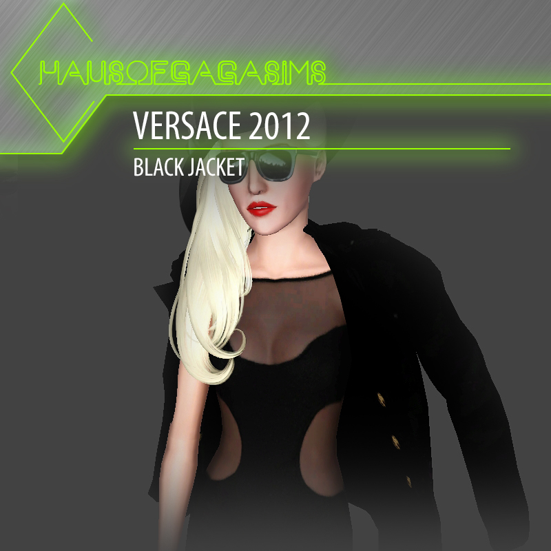 VERSACE 2012 BLACK JACKET