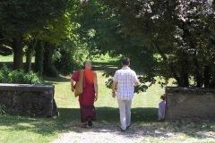 Un bout de chemin ensemble au colloque Chrétiens-bouddhistes CTM-Drukpa Grenoble 2015 : Lama Thrinlé et Bertrand Dumas.