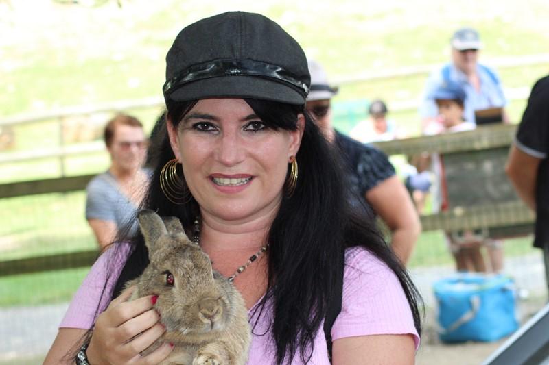 Avec les lapins