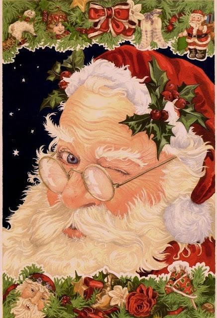 vintage santa:
