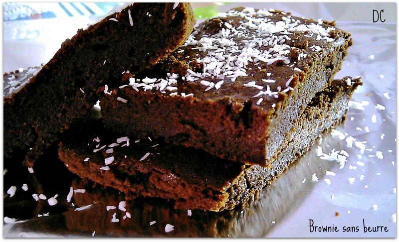 Brownie au chocolat allégé (compote de pomme)