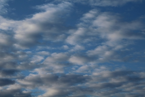 le ciel ce matin
