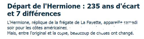 LA ROCHELLE  ! L'HERMIONE