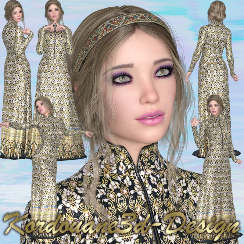 Alana : Dame médiévale (image-render)