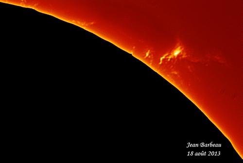 Le soleil du 18 août 2013