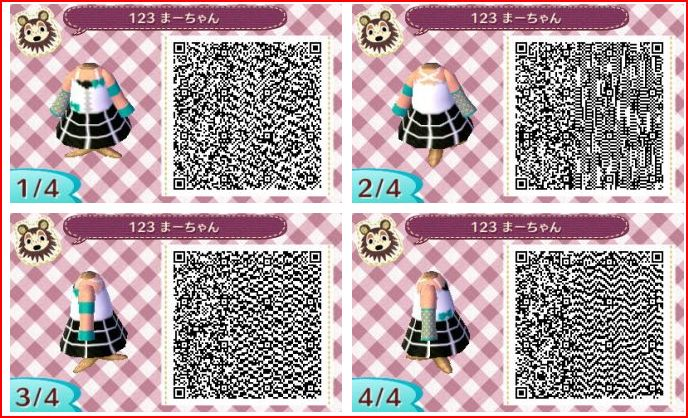 Souvent QR Codes vêtements filles - Animal Crossing New Leaf : Welcome Amiibo PK56