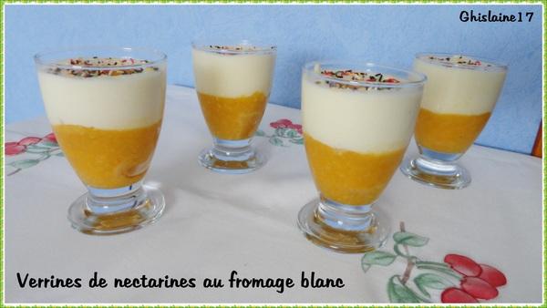 Verrines de nectarines au fromage blanc