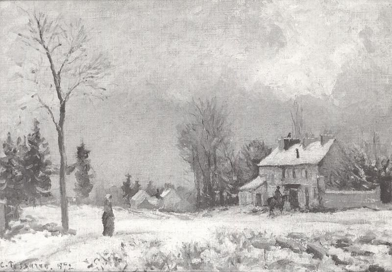 Fichier:Camille Pissarro - Route de Versailles à saint-Germain à Louveciennes - 1872.jpg