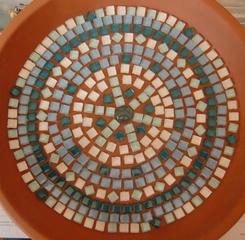 Tuto : Un bain à oiseaux en mosaïque
