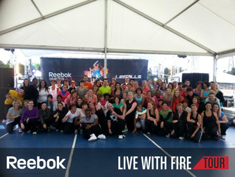 Reebok, Live with Fire Tour - Lyon